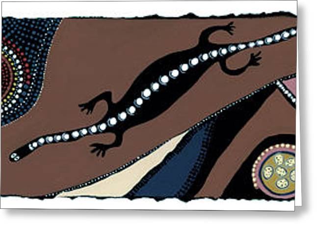 Seeking Goanna Greeting Card