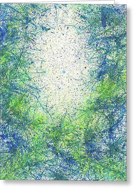 Seeking Truth On Gaia #425 Greeting Card by Rainbow Artist Orlando L aka Kevin Orlando Lau