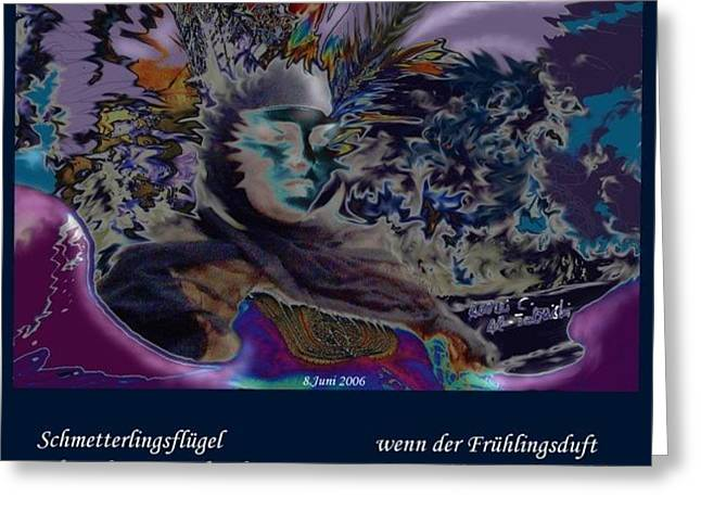 Seelenbluete Greeting Card by Amrei Al-Tobaishi-Jarosch