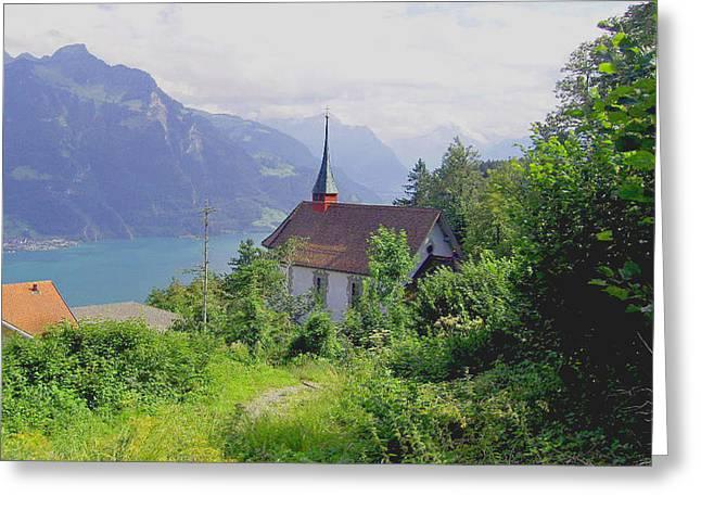 Seelisburg Switzerland Greeting Card by Monica Engeler