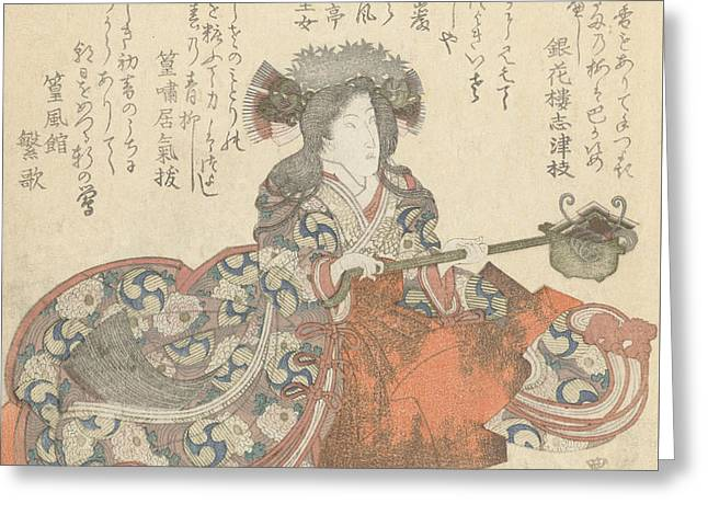 Segawa Kikunojo As Tomoe Gozen Greeting Card