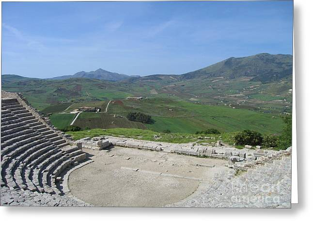 Segesta In Spring  Greeting Card by Clay Cofer