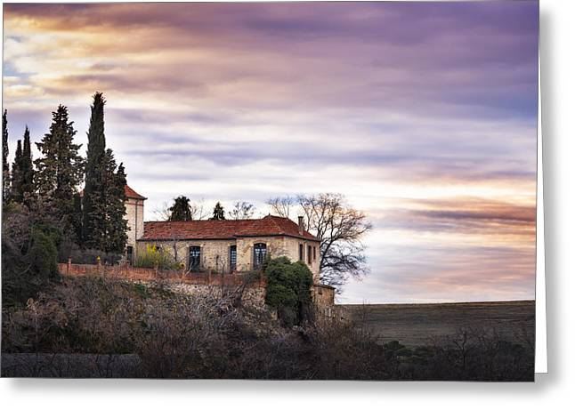 Segovia Sunset Greeting Card by Hernan Bua