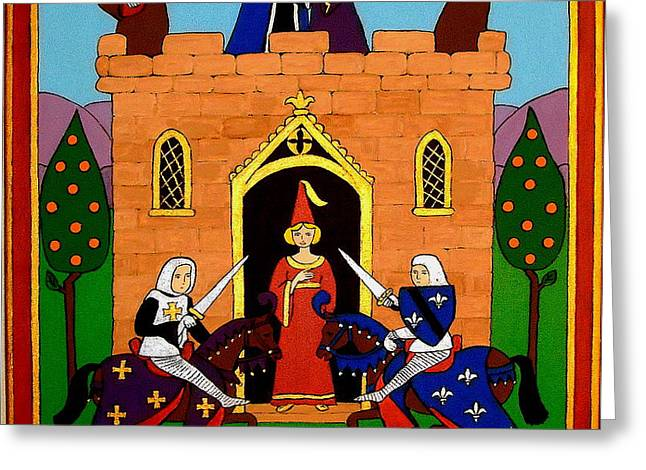 Greeting Card featuring the painting Seige Of The Castle Of Love by Stephanie Moore