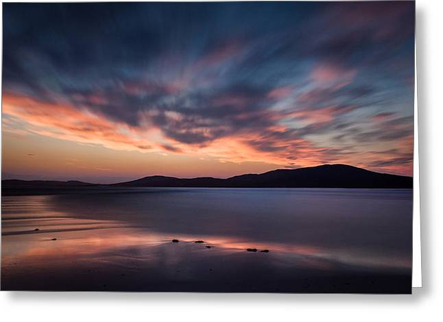Seilebost Sunset Greeting Card by Dave Bowman