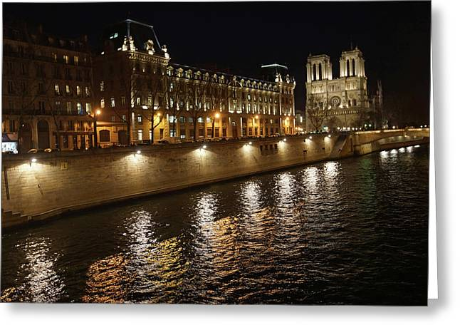 Seine - Notre Dame Greeting Card by Erik Tanghe