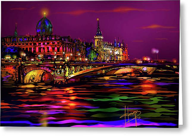Seine, Paris Greeting Card