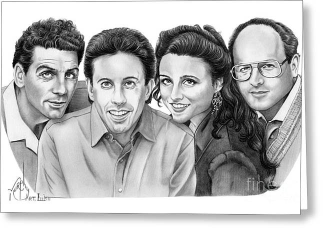 Seinfeld Cast Greeting Card by Murphy Elliott
