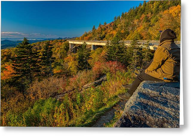 Seize The Day At Linn Cove Viaduct Autumn Greeting Card