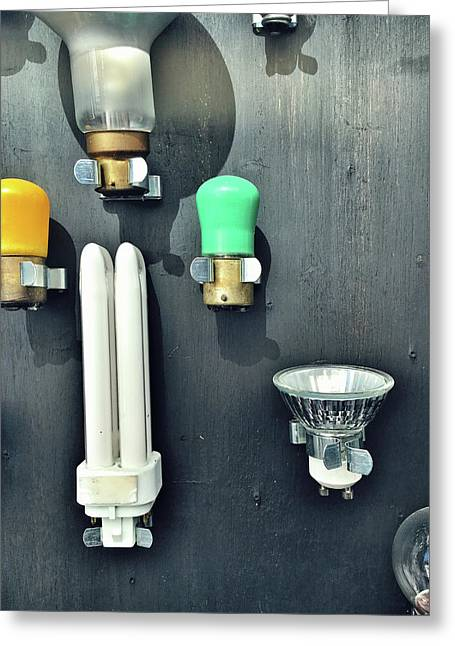 Selection Fo Light Bulbs Greeting Card