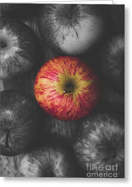 Selective Colour Still Life Fruits Greeting Card