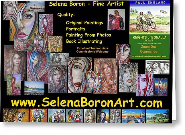 Greeting Card featuring the painting Selena Boron Photo Card 1 by Selena Boron