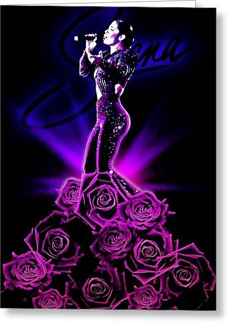 Selena Quintanilla Greeting Card by Oscar Benero Lopez