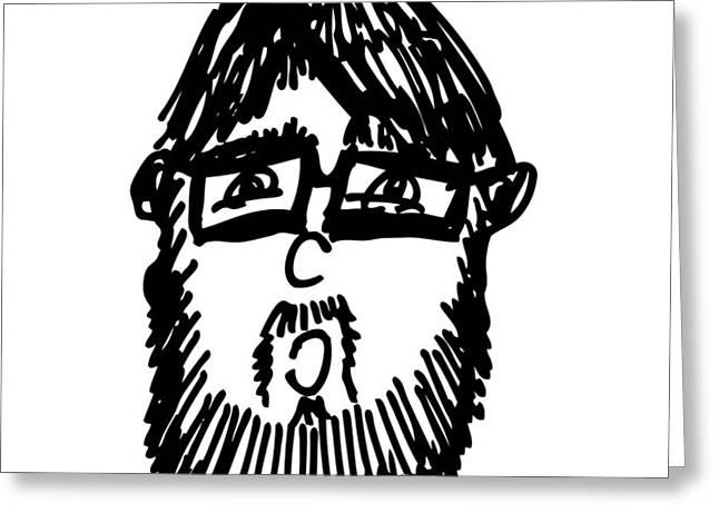 Self Comic Drawing Greeting Card