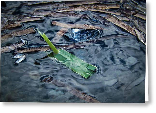 Self-made Boat By Refugee Kid In Chios,greece Greeting Card