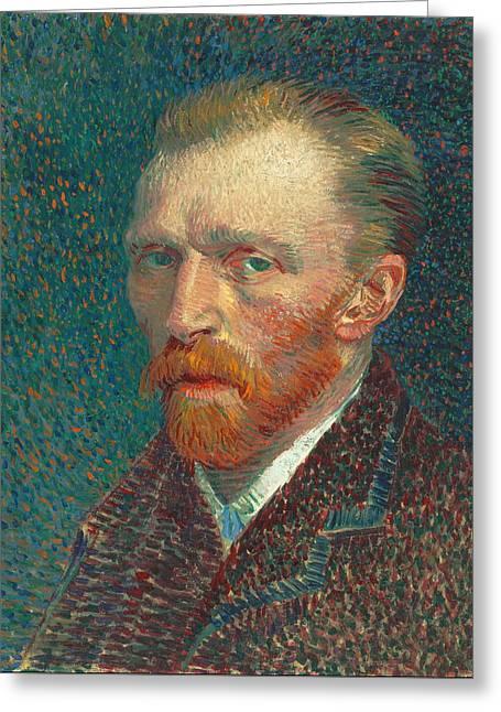 Self Portrait 1887 09 Greeting Card by Vincent Van Gogh