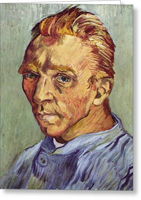 Self Portrait 1889 Without Beard Greeting Card by Vincent Van Gogh