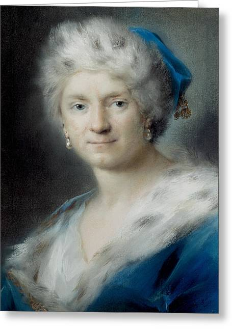 Self-portrait As Winter Greeting Card by Rosalba Carriera