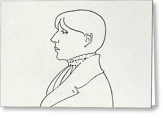 Self Portrait Greeting Card by Aubrey Beardsley