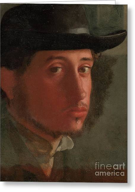 Self-portrait By Edgar Degas  Greeting Card