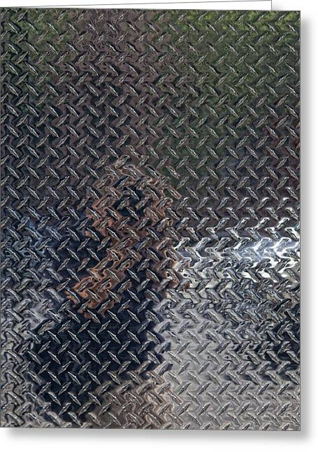 Self Portrait In Steel Greeting Card