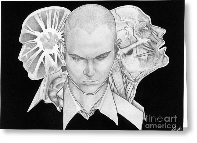 Self Portrait Greeting Card by Jeff  Blevins