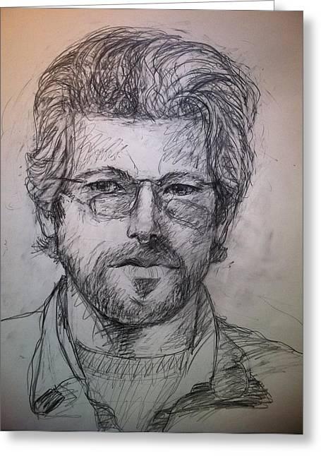 Self Portrait Greeting Card by Jeff Levitch