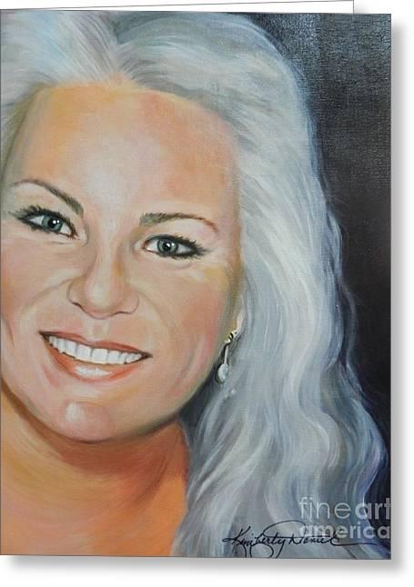 Self Portrait Greeting Card by Kimberly Daniel