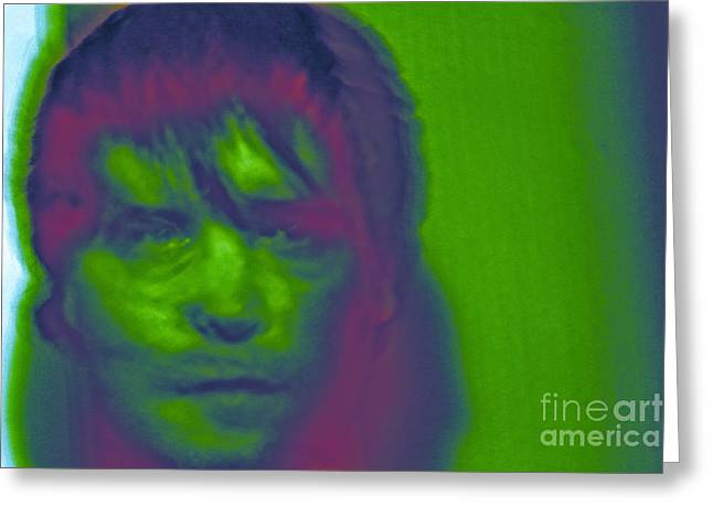 Greeting Card featuring the photograph Self Portrait Number 1 by Xn Tyler