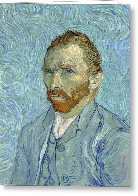 Self Portrait - Orsay, 1889 Greeting Card by Vincent Van Gogh