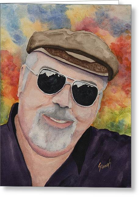 Self Portrait With Sunglasses Greeting Card by Sam Sidders
