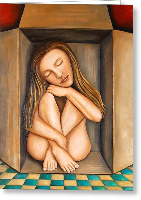 Self Storage Greeting Card by Leah Saulnier The Painting Maniac