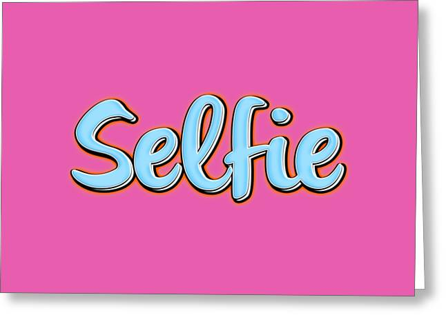 Selfie Tee Greeting Card by Edward Fielding
