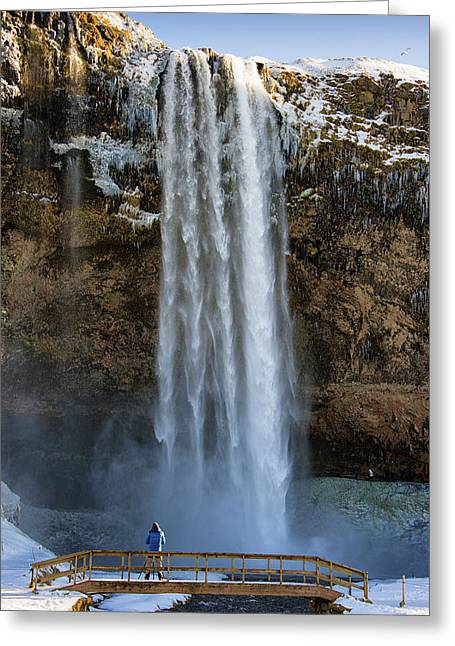 Greeting Card featuring the photograph Seljalandsfoss Waterfall Iceland Europe by Matthias Hauser