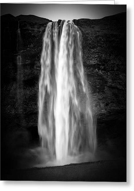 Greeting Card featuring the photograph Seljalendsfoss by Alex Blondeau