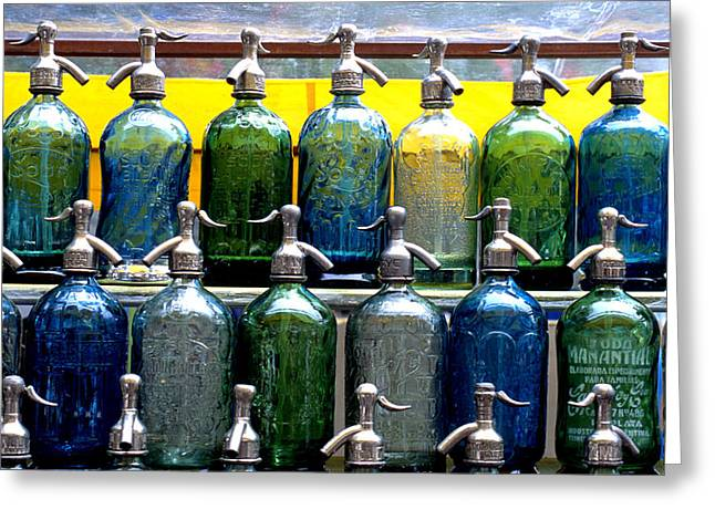Seltzer water greeting cards fine art america seltzer bottles greeting card m4hsunfo