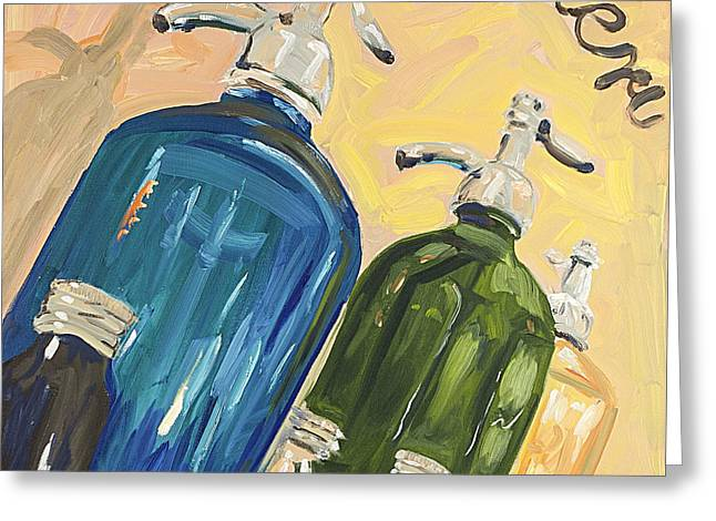 Seltzer greeting cards page 5 of 5 fine art america seltzer bottles greeting card m4hsunfo