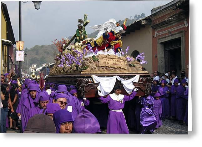 Semana Santa Procession V Greeting Card by Kurt Van Wagner