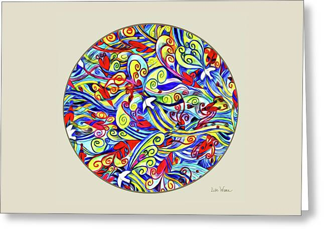 Semi Abstract Paintings Button Greeting Card