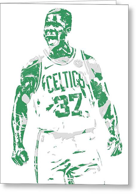 Semi Ojeleye Boston Celtics Pixel Art 1 Greeting Card