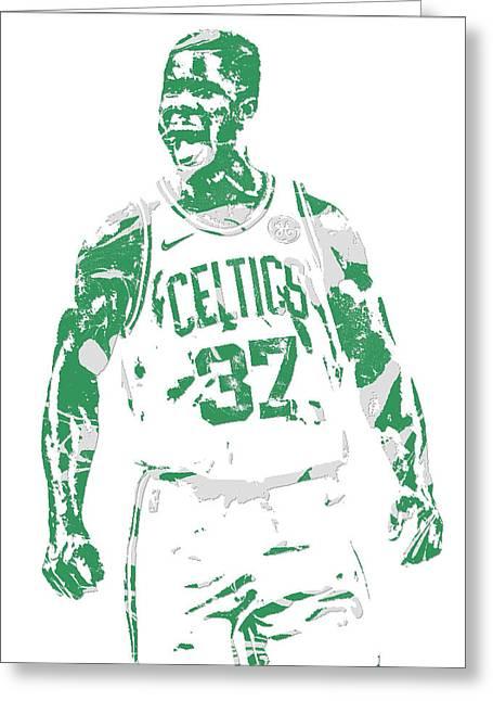 Semi Ojeleye Boston Celtics Pixel Art 1 Greeting Card