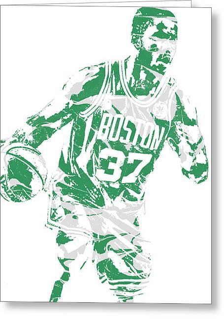 Semi Ojeleye Boston Celtics Pixel Art 2 Greeting Card