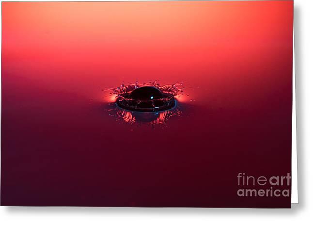Semi Submerged Droplet Greeting Card