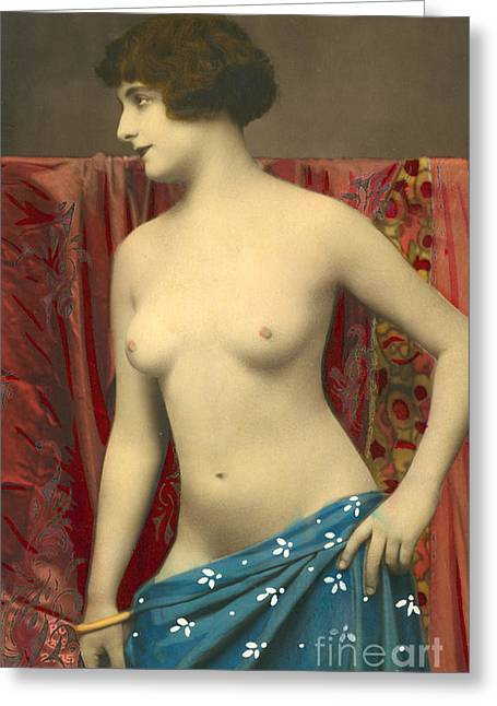 Semin Nude Girl Greeting Card by French School