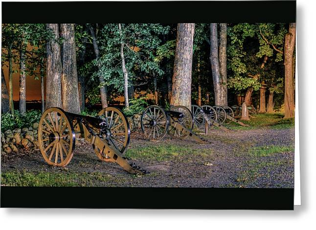 Seminary Ridge Artillery Greeting Card by Rob Sellers