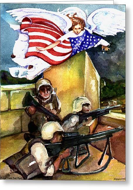 Semper Fideles -  Iraq Greeting Card by Elle Smith  Fagan