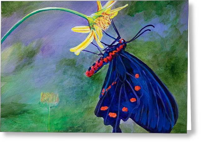 Semperi Swallowtail Butterfly Greeting Card by AnnaJo Vahle