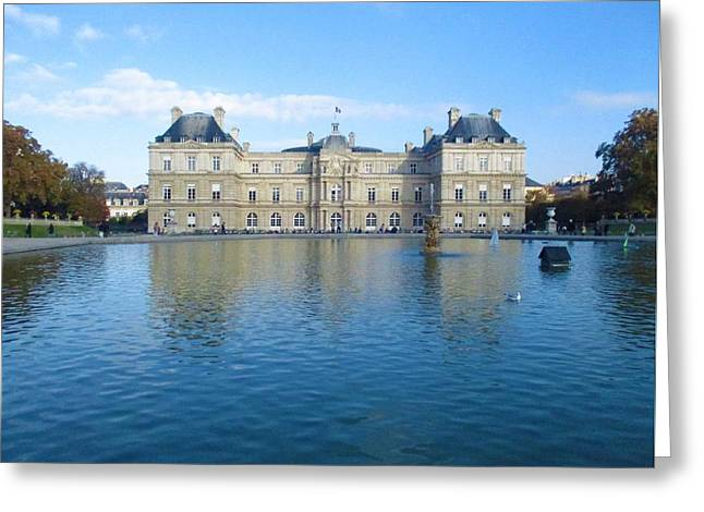 Greeting Card featuring the photograph Senat From Jardin Du Luxembourg by Christopher Kirby