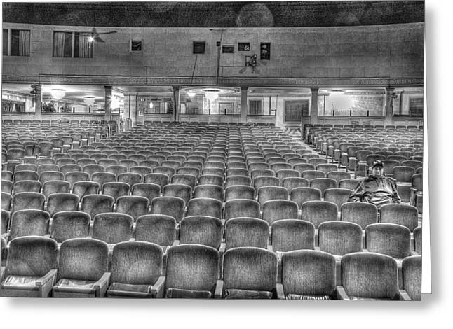 Senate Theatre Seating Detroit Mi Greeting Card by Nicholas  Grunas