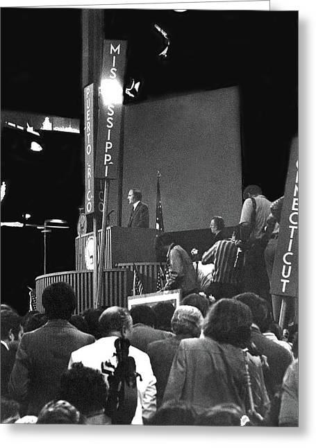 Senator George Mcgovern Nominee #3 Democratic National Convention Miami Beach Florida 1972 Greeting Card by David Lee Guss